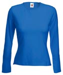 Lady-Fit Long Sleeve Crew Neck T